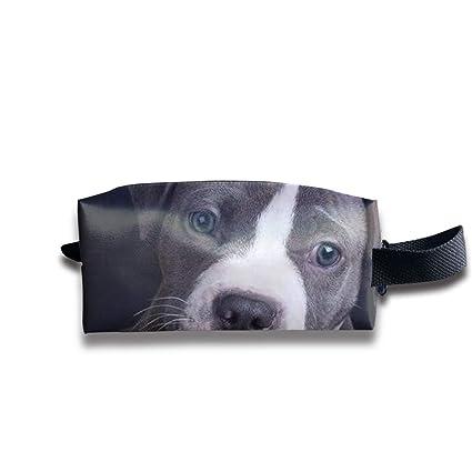 6cc6af1bce0e Clash Durable Zipper Wallet Makeup Handbag with Wrist Band I Love Pit Bulls  Toiletry Bag