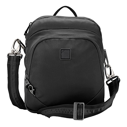 Lewis N. Clark Secura Anti-Theft 3-In-1 Backpack, Shoulder + Crossbody Bag for Travel or Work with RFID Blocking Card Slots & Slash Resistant Material, Onyx