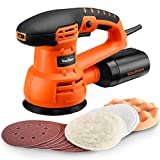 VonHaus 5'' Random Orbit Sander Polisher with Variable Speed, 13000 RPM, 9 Sanding Pads, 3 Polishing Pads and Dust Extractor System
