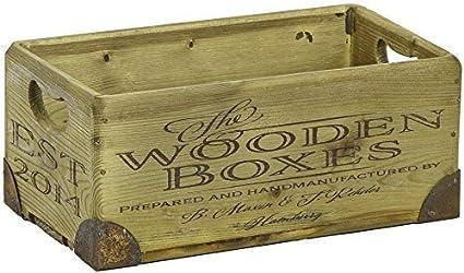 """Juego de 3 o 2 Set Caja madera """"The Wooden Cajas"""" Vintage Cajas"""