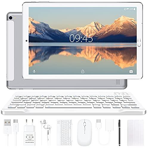 YESTEL Android 10.0 10-inch tablets met 4 GB RAM + 64 GB ROM – WiFi   Bluetooth   GPS, 8000 mAh, met muis   Toetsenbord…
