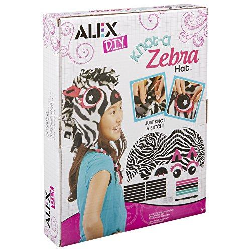 ALEX DIY Knot-a Zebra Hat Craft Kit