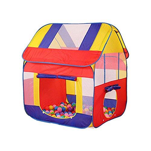 Pop-up tienda de campaña de los niños, colorido Little House Modeling Ocean Ball casa de tiendas de campaña transpirable...