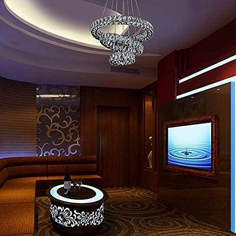 QRZE 60W colorful crystal chandeliers LED RGB color chandelier ...