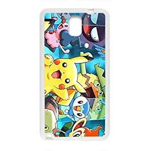 Lovely Pokemon happy Pikachu Cell Phone Case for Samsung Galaxy Note3