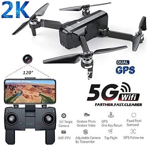 1 Batterie- Amyove Drone Quadcopter Sjrc F11 pro GPS 5G WiFi FPV mit 2k Kamera 25mins Flight Time Bürstenlos Selfie RC Drone Quadcopter - 1 Batterie-