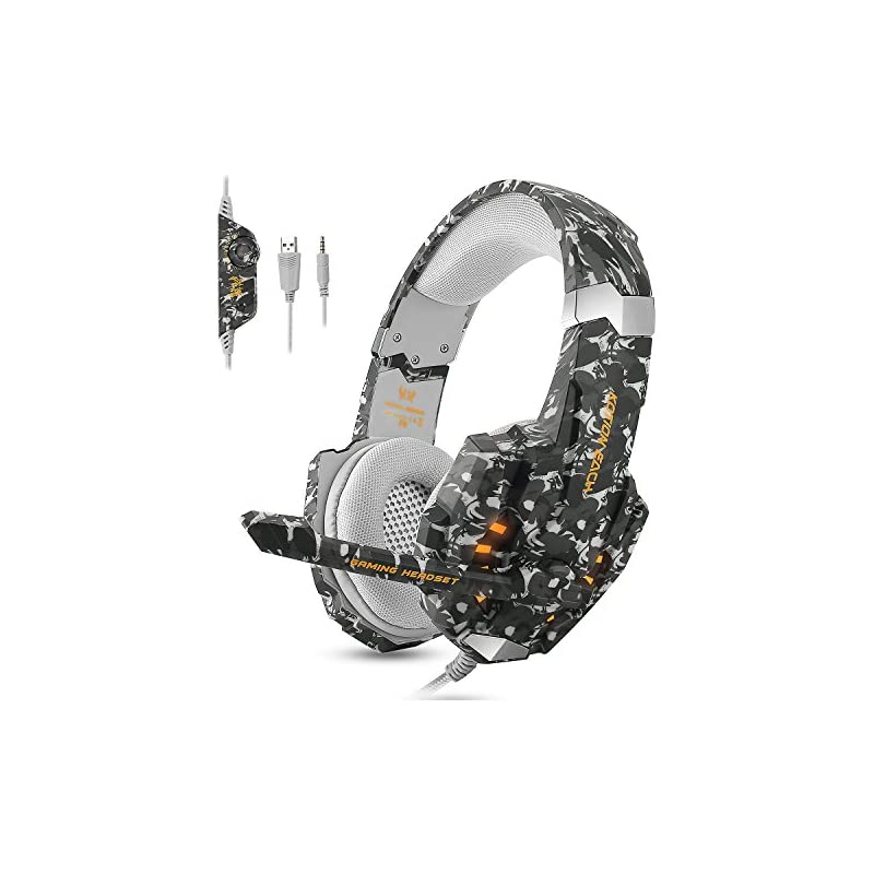 ECOOPRO Stereo Gaming Headset for PS4, X