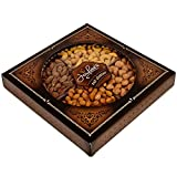 Jaybees Nuts Gift Tray - Great Holiday, Corporate, Birthday Gift, or as Everyday Healthy Snack - Cashews, Smoked Almonds, Toffee & Honey Roasted Peanuts, Vegetarian Friendly and Kosher