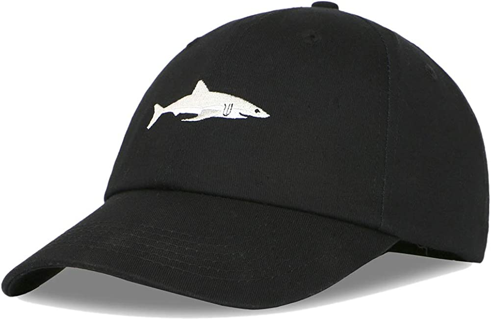 Kokkn Whale Embroidered Baseball Cap Duck Tongue Hat Outdoor Leisure Cap