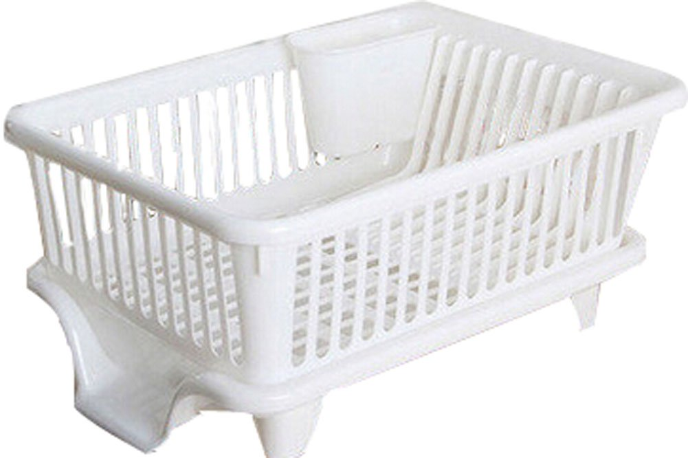 Kitchen Dish Rack Storage Rack Sink Grid/ Grid Tableware Rack Side White PANDA SUPERSTORE PS-HOM5298280011-SUNNY00008