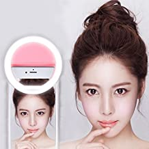 Selfie Ring Light, FeBite Selfie LED Lighting Camera 36 LEDs 3-Level Brightness Clip On for iPhone 7 6 6S Plus 5S SE iPad Samsung Galaxy S7 S6 Edge Plus Sony, Motorola and all Smart Phones (Pink)