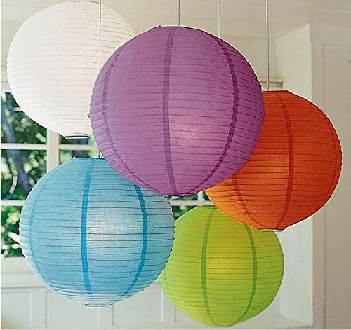 BeesClover 50pcs/lot Mixed Size Paper Lantern Lamps for Wedding Party Birthday Event Party Decorations Festival Decor 12 inch