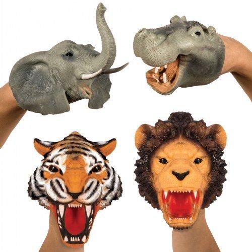 Safari Hand Puppets (Set of 4) - Schylling Puppets