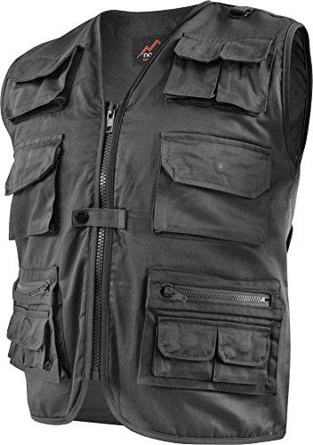 Outdoor Weste Safari mit vielen praktischen Taschen Farbe Schwarz Größe XL