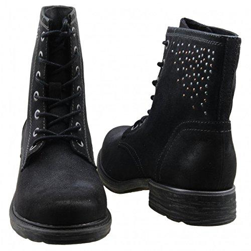 Tamaris 1-1-25210-23-002 - Botas de Material Sintético para mujer Negro Schwarz (002 black antic) Negro