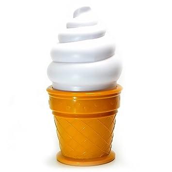 Cono di gelato a forma di decorazione notte luce lampada da tavolo ...