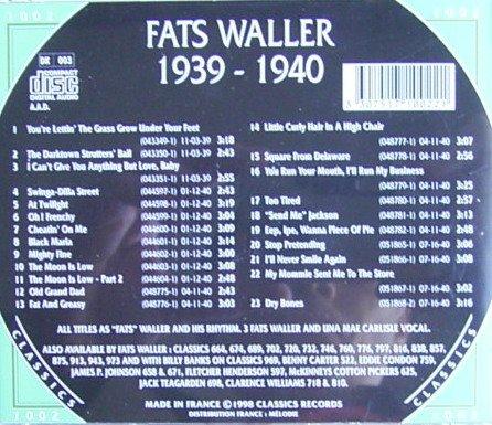 Fats Waller 1939-1940