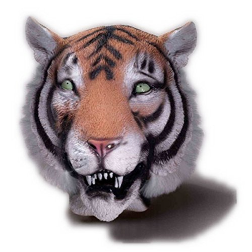 Tiger Deluxe Mask (Deluxe Latex Tiger Mask)