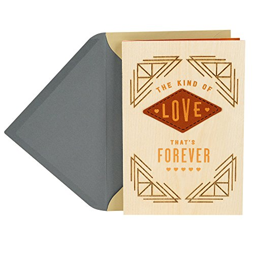 Hallmark Wood Father's Day Card for Husband or Boyfriend (Love That's Forever)
