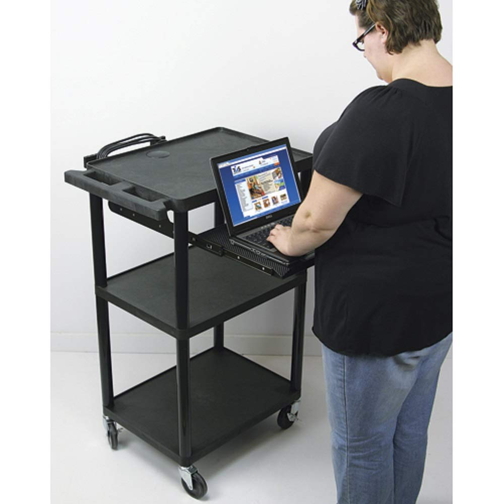 AVantage 4 in 1 Adjustable Electrical Multimedia Presentation Cart