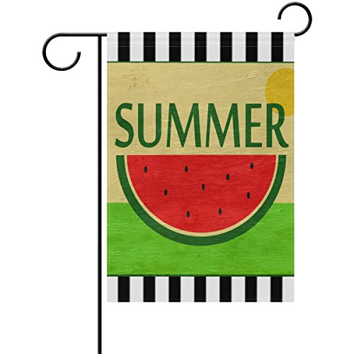 ALAZA Hello Summer Yard Flag, Double Sided Retro Watermelon