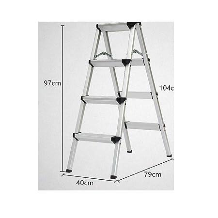 Escalera de tijera Escalera plegable Escalera telescópica Escalera en espiga de aluminio Escalera recta Escalera multifunción portátil Dos tres Escalera de cuatro escalones (Color : Four steps 97cm) : Amazon.es: Hogar