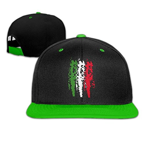 Italia Italy Italian Flag Men's Adjustable Snapback Hip Hop Dad Hat Cap Flat Brim White Baseball Cap for Men Women