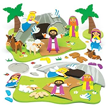 Holy Week 3d Foam Scene Kit For Kids Perfect For Easter Arts Crafts
