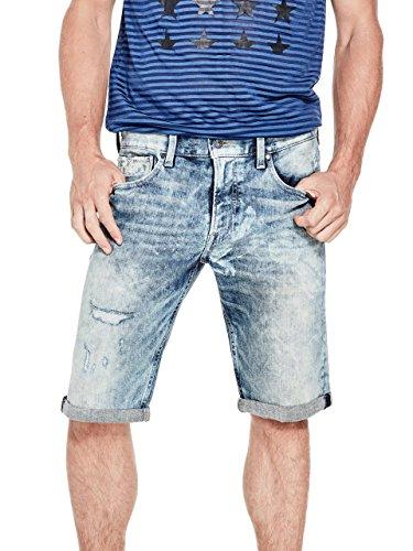 Guess Jean Shorts (GUESS Men's Regular Destroy Denim Shorts)