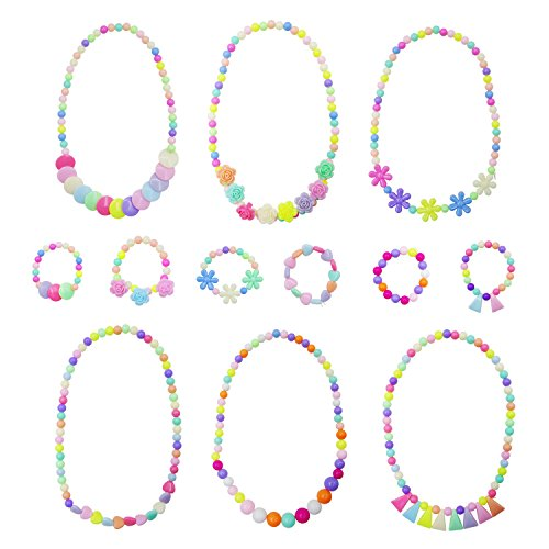 6 Sets Princess Necklace Bracelet, Granmp Dress Up Jewelry f