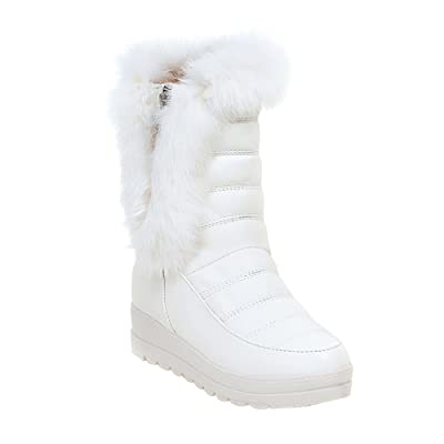 Eclimb Women Fully Fur Lined Waterproof Outdoor Slip-on Winter Snow Boots   Snow Boots
