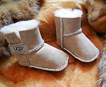 963256def31 ICY Couture BABY UGGS Boots with Bling (SM (6-12 months), SAND)