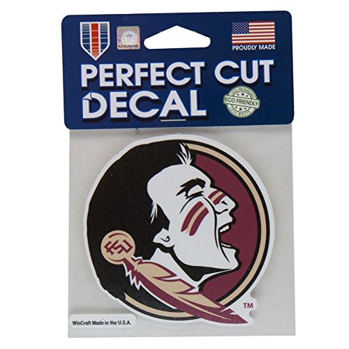 NCAA Florida State University 52840014 Perfect Cut Color Decal, 4