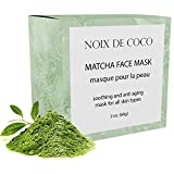 Noix de Coco Organic Superfood Face Mask - Reduces Pores & Acne - Tightening & Hydrating - All Natural, Vegan, Cruelty Free, Non-Toxic (Matcha)