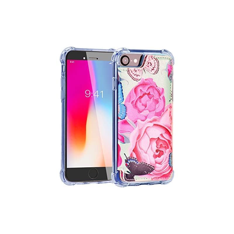iPhone 8 Wallet Case,iPhone 7 Case with
