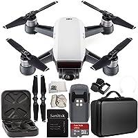 DJI Spark Portable Mini Drone Quadcopter Starter Portable Bag Shoulder Travel Case Bundle (Alpine White)
