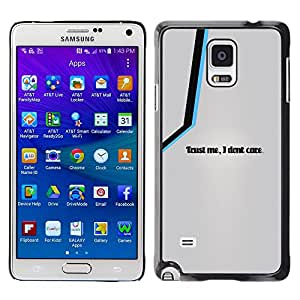 Caucho caso de Shell duro de la cubierta de accesorios de protección BY RAYDREAMMM - Samsung Galaxy Note 4 - Fidati di Me Cura I Don