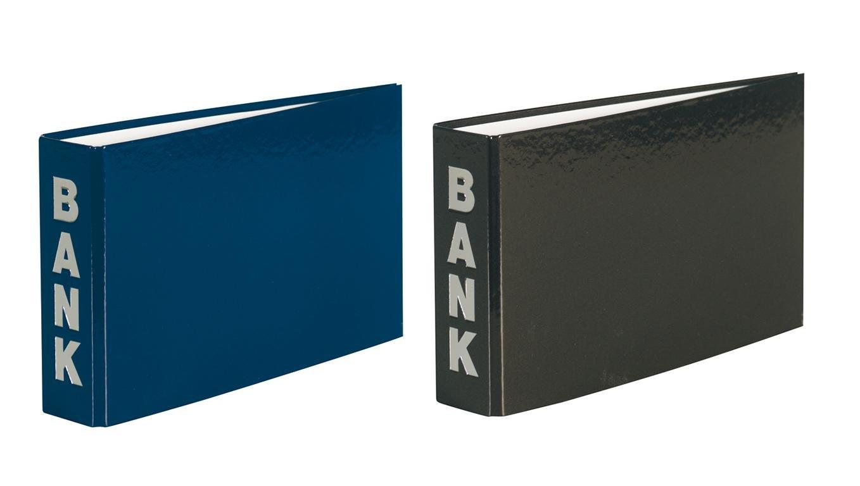 Bankordner Farbe 140x250mm schwarz für Kontoauszüge