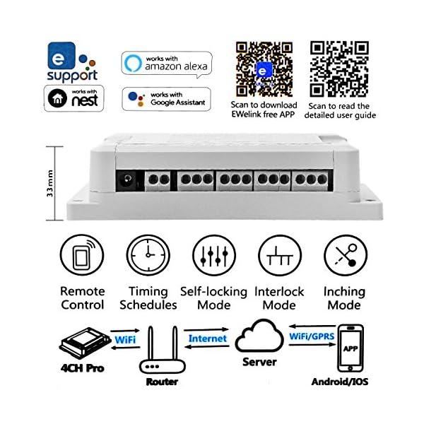 4CH Pro R3 WiFi Interruttore Intelligente Wireless 4 Gang Inching/Self-Locking/Interlock RF Smart Switch con Funzione di… 4 spesavip