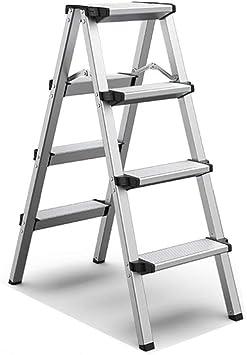 Suministros de construcción Las escaleras de mano lateral doble, dos pasos/Tres Paso/Cuatro paso de depósito de aleación de aluminio de tijera Escalera del taburete/Capacidad de carga: 150 Kg ah: Amazon.es: Bricolaje y