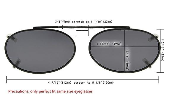 6a6b2f241ff53 Eyekepper Oval Gris marrón G15 lente 3-Pack clip-en gafas de sol polarizadas  49x30mm  Amazon.es  Ropa y accesorios