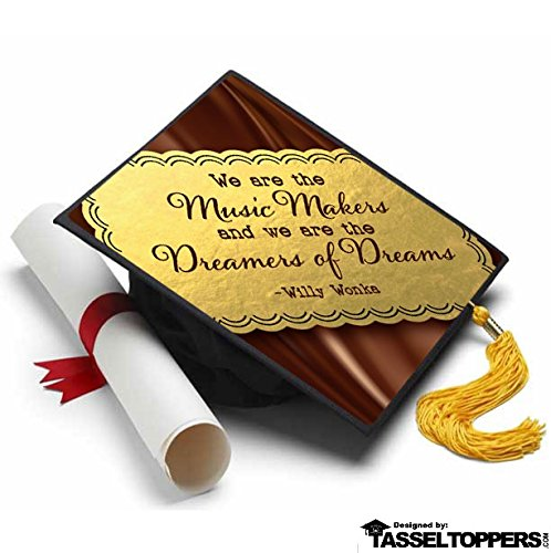 Willy Wonka & The Chocolate Factory Grad Cap Tassel Topper - Decorated Grad - Spot On Willy