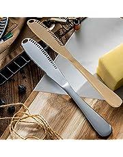 Butter Spreader Knives Picks Cheese Grater Blades Stainless Steel Scooper Knife Curler Slicer 3 in 1 Multi-Function Kitchen Gadgets Bread Dessert Jam Citrus Nutmeg Christmas 2Pcs