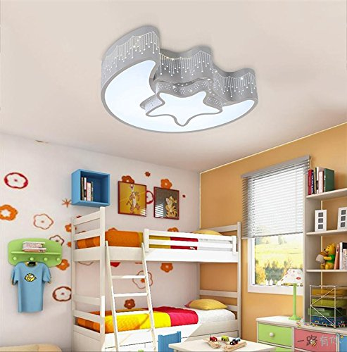 FixtureDisplays Star Moon Kid's Room Ceiling Light Creative Baby Bedroom 15856