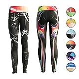 Platinum Sun Printed Sport Strechy Leggings for Women – Mystica Black – M For Sale