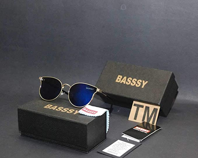6b2962559b Image Unavailable. Image not available for. Colour  Basssy Luxury Mirror  Branded Sunglasses