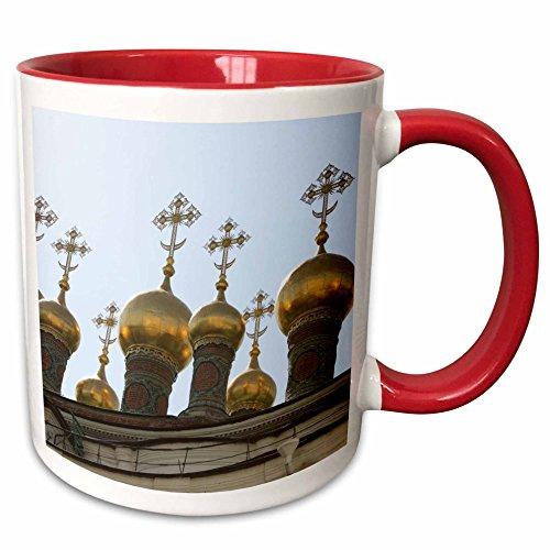 3dRose Albom Design Travel - Cupolas of Terem Churches in Kremlin, Moscow Photo by Rhonda Albom - 15oz Two-Tone Red Mug (mug_164780_10)