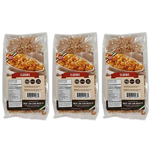 Low Carb Pasta, Keto Pasta, Great Low Carb Bread Company ,7g Net Carbs, 12g of Protein, Non GMO, (Elbow, 3 Pack) 1
