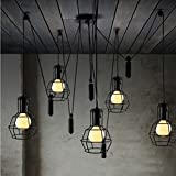 Aiwen Rise And Fall Pulley Rustic Chandeliers(Not Include Light Source)15 Lamp Holders For Sale