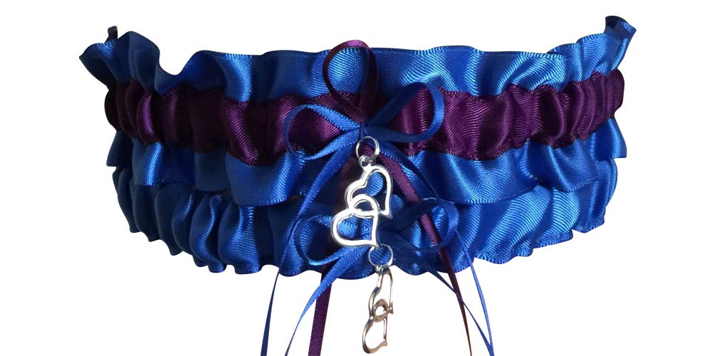 Royal Blue And Plum Purple Wedding Garter Set Prom Garter Set